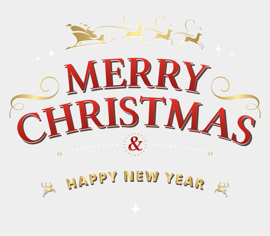 vintage merry christmas clipart, Cartoons - Merry Christmas Text Png Clip Art