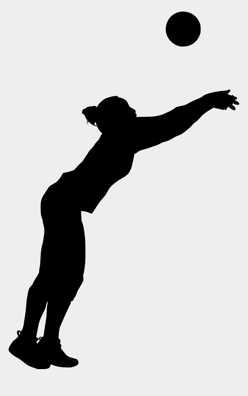 volleyball player silhouette clipart, Cartoons - Free Download - Silhouette