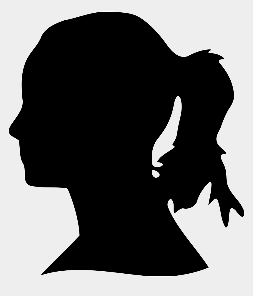 wolf head clipart black and white, Cartoons - Woman's Head Silhouette 4 Icons Png - Woman's Head Silhouette Png