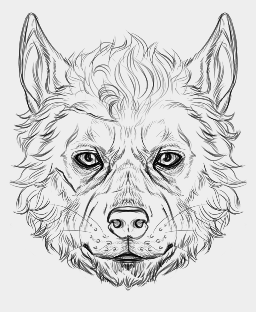 wolf head clipart black and white, Cartoons - Wolf Faces Will Harris - Wolf Drawing Line Face