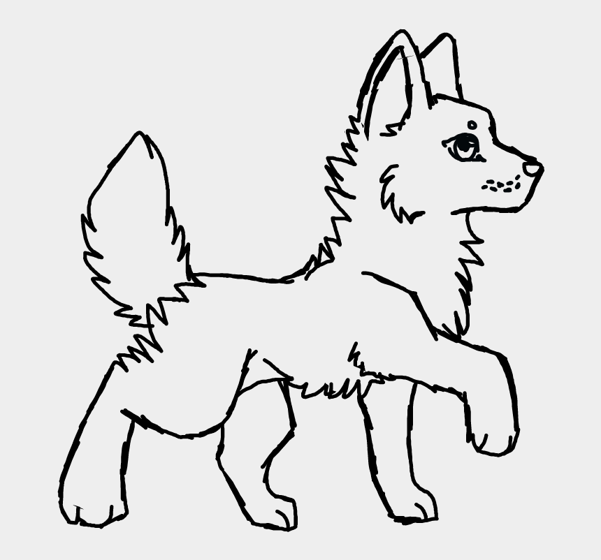wolf head clipart black and white, Cartoons - Eyy Just A Chibi Wolf With A Big Head ^^ - Companion Dog