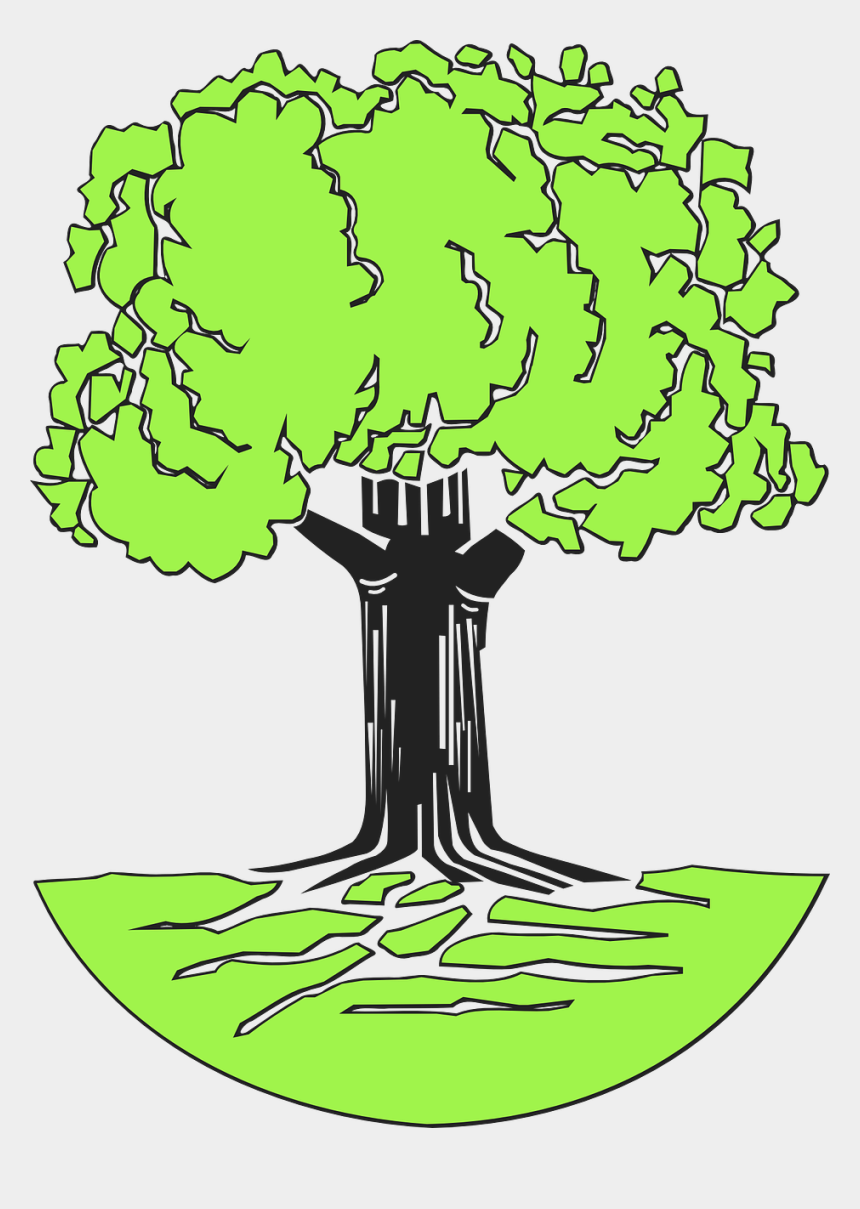 family tree with roots clipart, Cartoons - Tree Stem Roots Leaves Nature Green Grass Wood - Johann Pachelbel Family Tree
