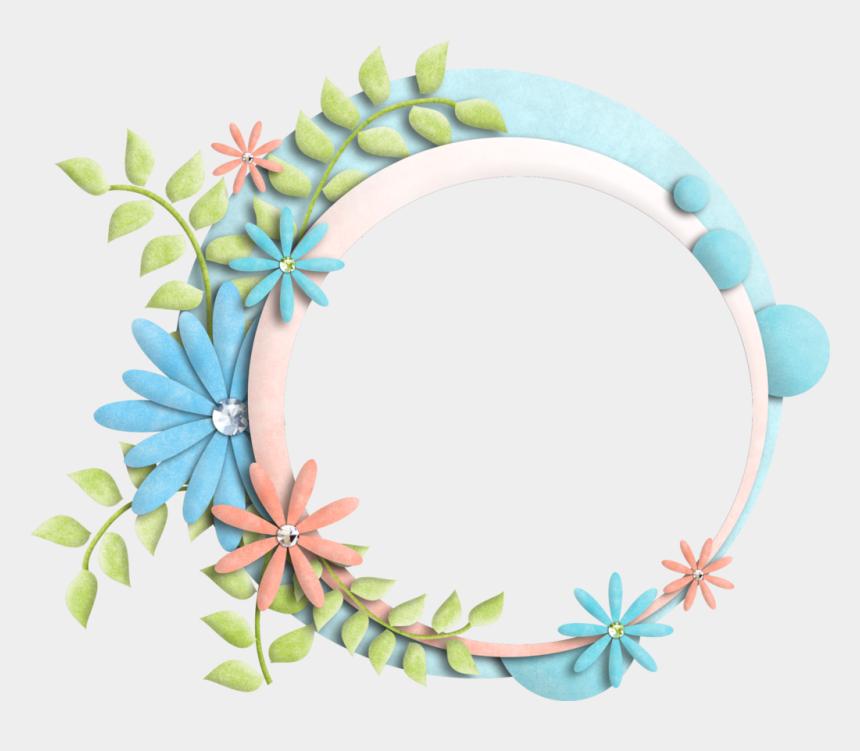 round frame clipart, Cartoons - Floral Frame Transparent Background - Frame Flower Transparent Background
