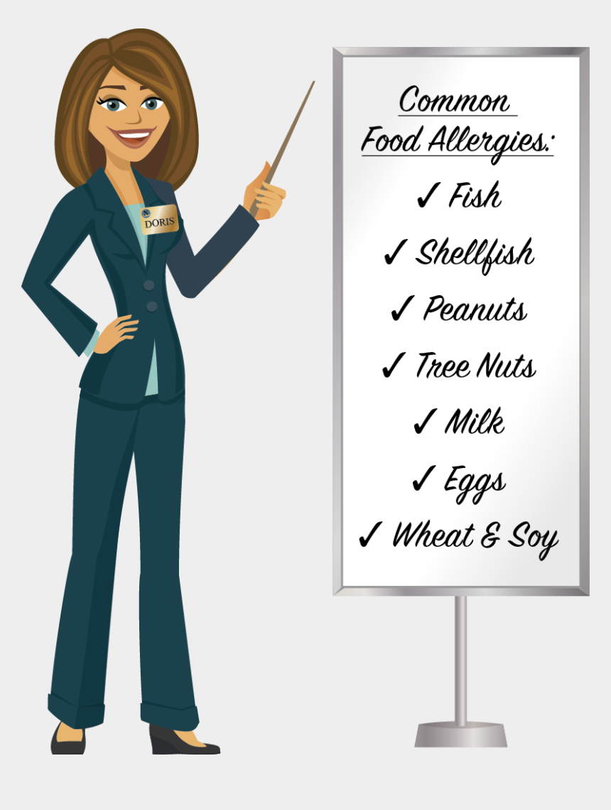 flight attendant clipart, Cartoons - Food Allergies A Doris@norris Meeting Tip - Female Sales Manager Cartoon
