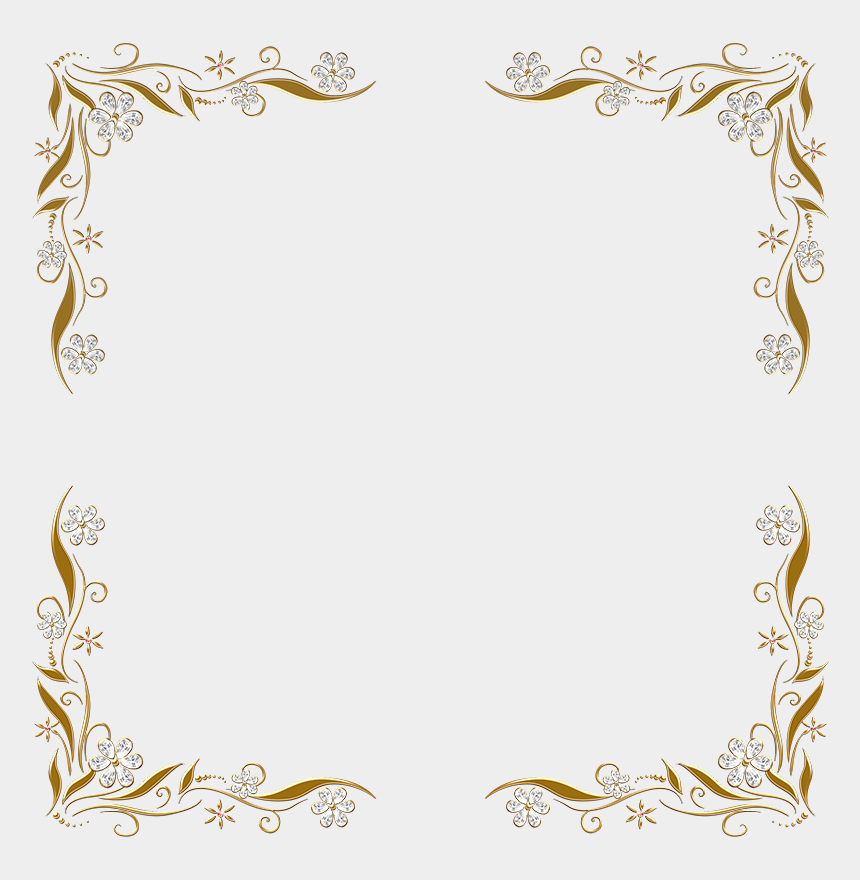doodle border clipart, Cartoons - Paw Print Border Png - Silver And Gold Border