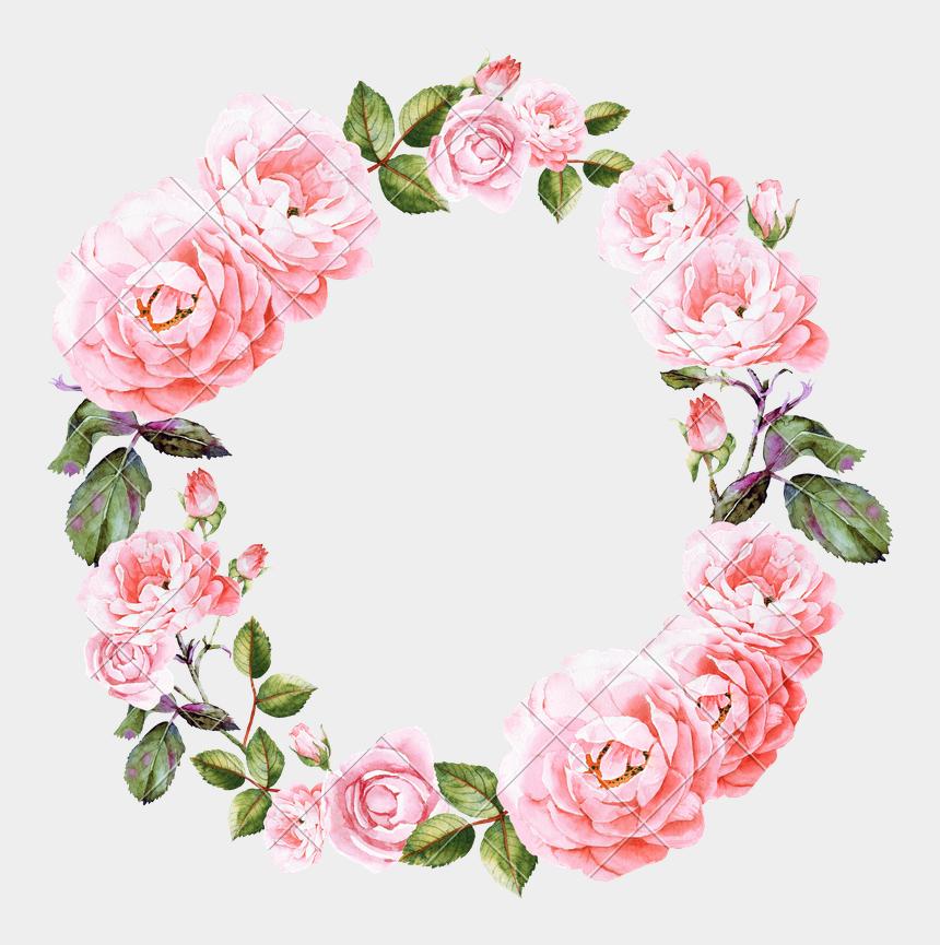 wedding invitation clipart, Cartoons - Invitation Clipart Wreath - Pink Flower Wreath Png