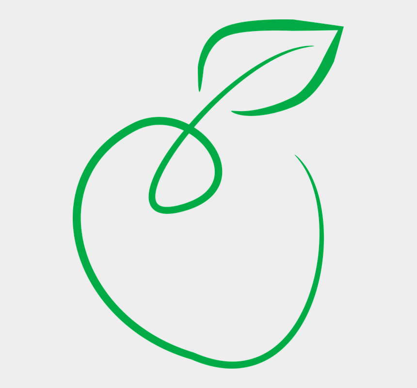 manzana clipart, Cartoons - Frutas, Manzana Verde, Simple Arte - Green Apple Icon Png