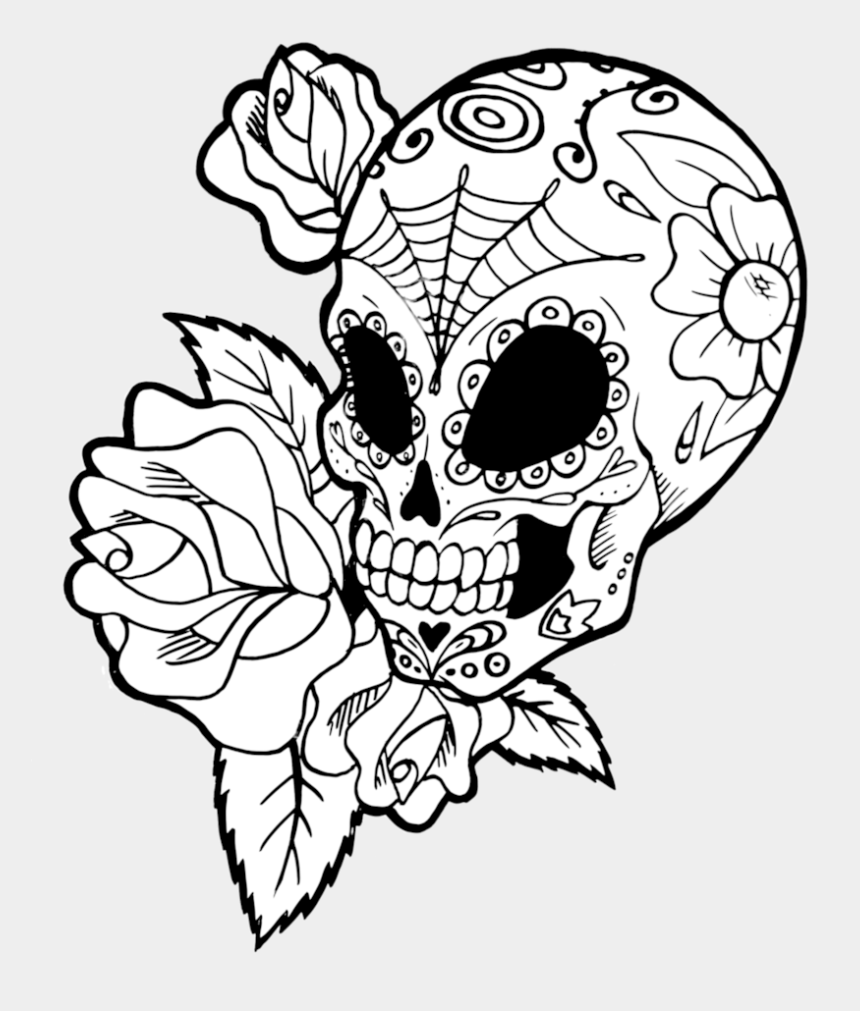 mexican flower clipart, Cartoons - Roses Drawings With Sugar Skulls Download - Sugar Skulls To Draw