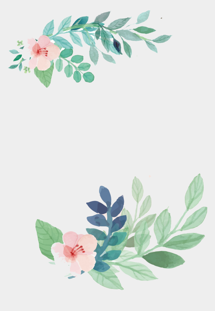 wedding invitation clipart, Cartoons - Flower Wedding Watercolor Invitation Flowers Painting - بطاقة الحمدلله على السلامة