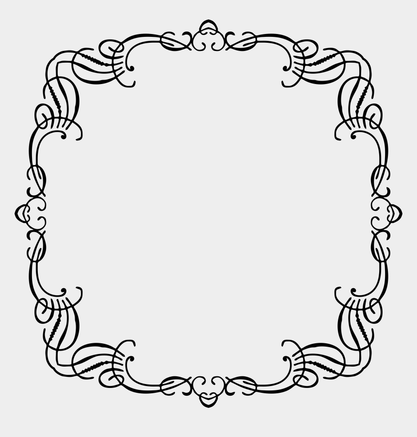 free flourishes clipart, Cartoons - Flourishes Clipart French - Vintage French Frame Floral