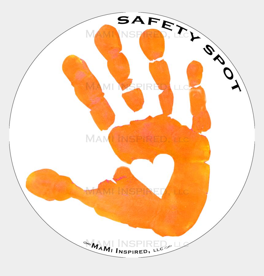 handprint tree clipart, Cartoons - Handprint Transparent Orange - Portable Network Graphics