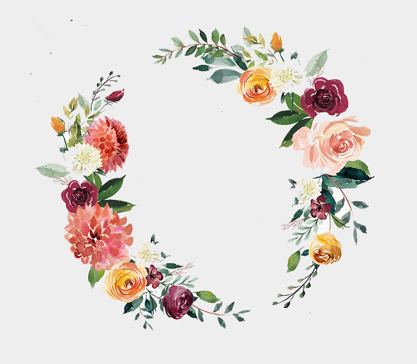 clipart wreath, Cartoons - Invitation Clipart Wreath - Transparent Watercolor Floral Wreath