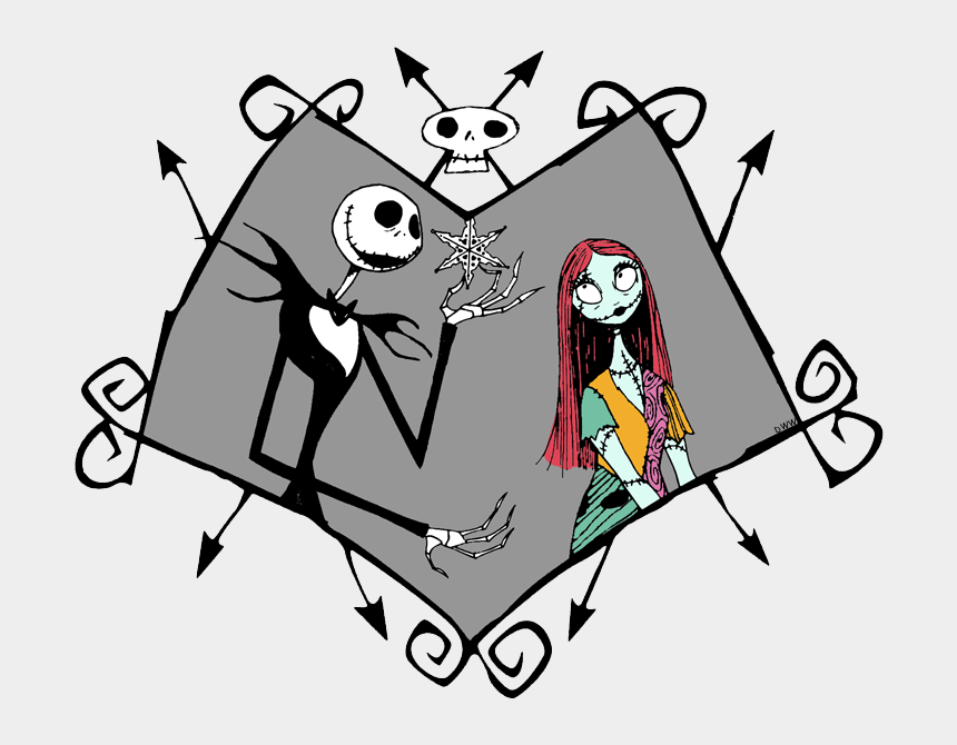 jack and sally clipart, Cartoons - Jack Skellington, Sally - Nightmare Before Christmas Jack And Sally Clipart