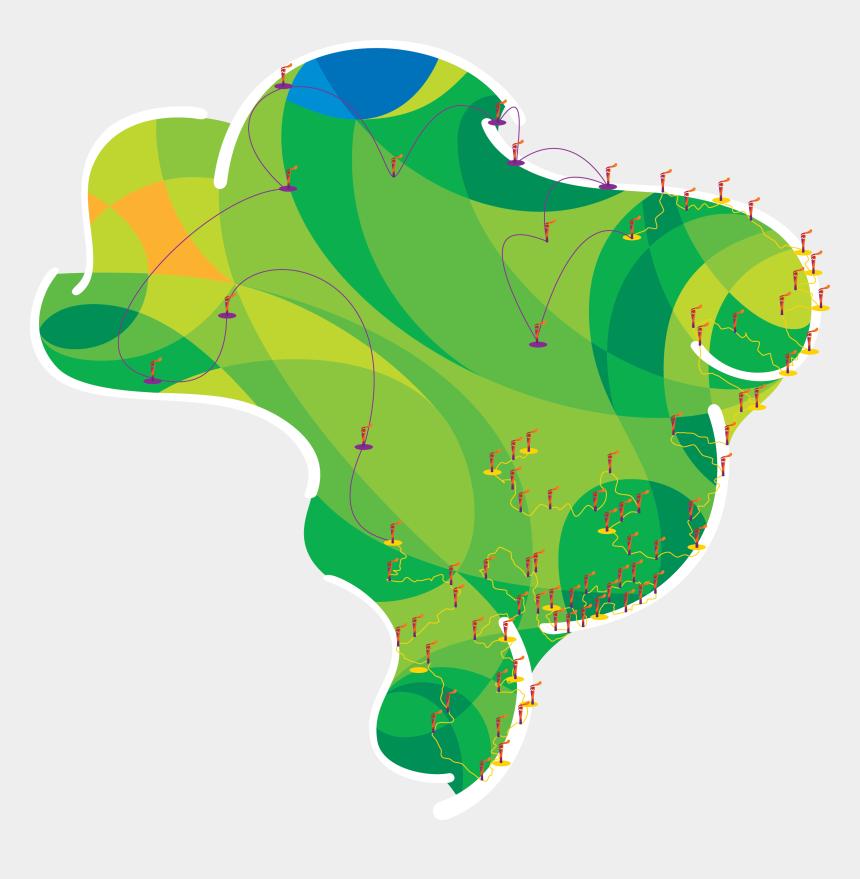 olympic torch clipart, Cartoons - Rio Olympic Torch Relay 2016 [2834 X 2765] - Маршрут Олимпийского Огня 2016