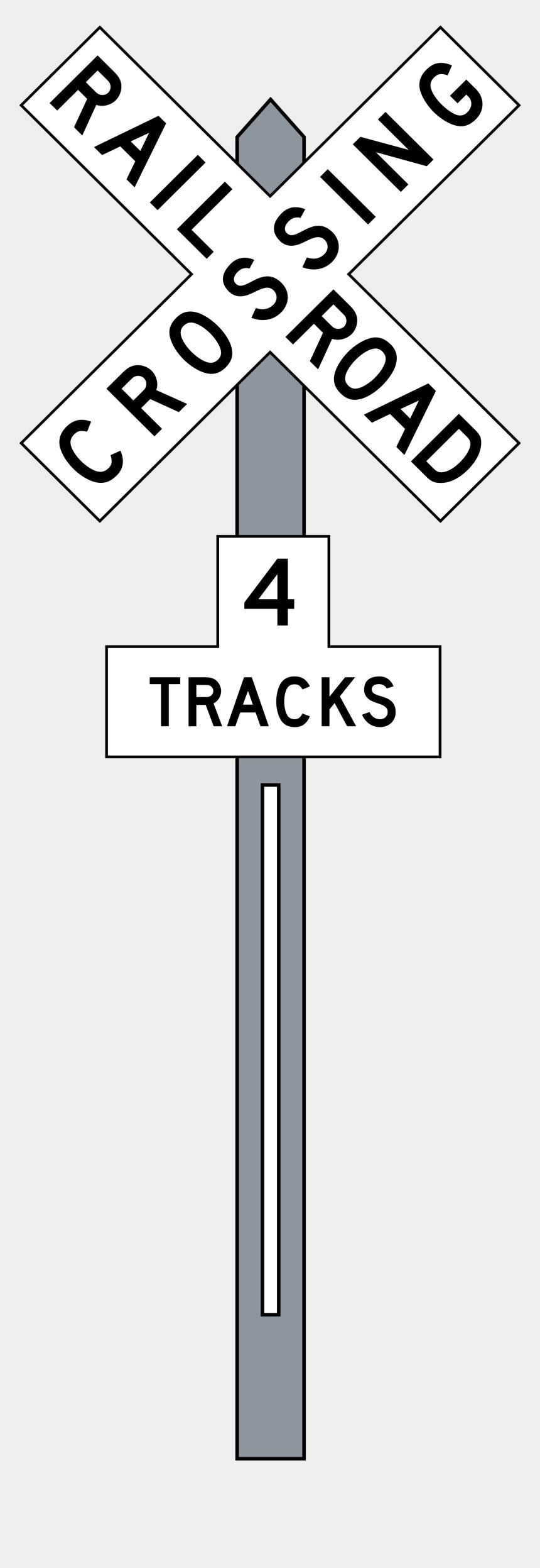 railroad track clipart, Cartoons - Railroad Tracks Transparent Background Png Images - Railroad Crossing 4 Tracks