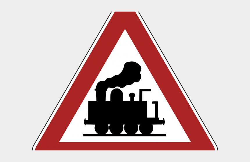 railroad track clipart, Cartoons - Railroad Tracks Clipart Train Station Sign - Dopravná Značka Železničné Priecestie