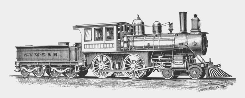 railroad track clipart, Cartoons - Free Image On Pixabay Locomotive Monochrome Railroad - Steam Locomotive Png
