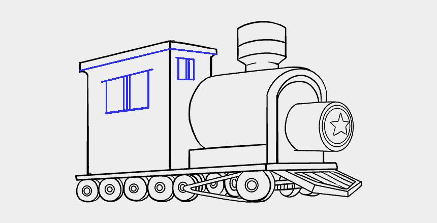 railroad track clipart, Cartoons - Drawing Train Ww2 - Train Drawing