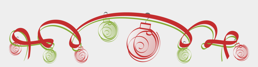 christmas ornaments clipart border, Cartoons - Page Divider Png - Christmas Ornament Border Png