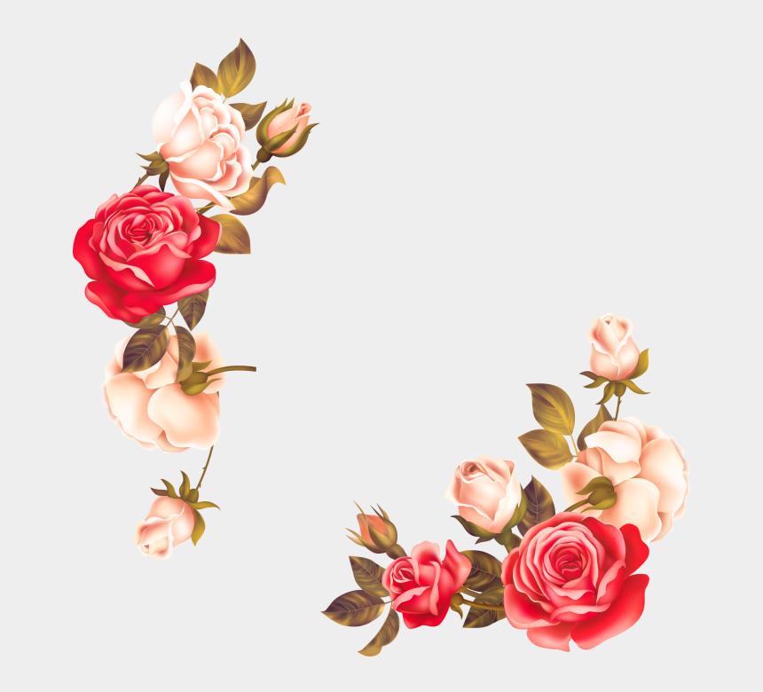 floral border clipart, Cartoons - Rose Flower Border Png