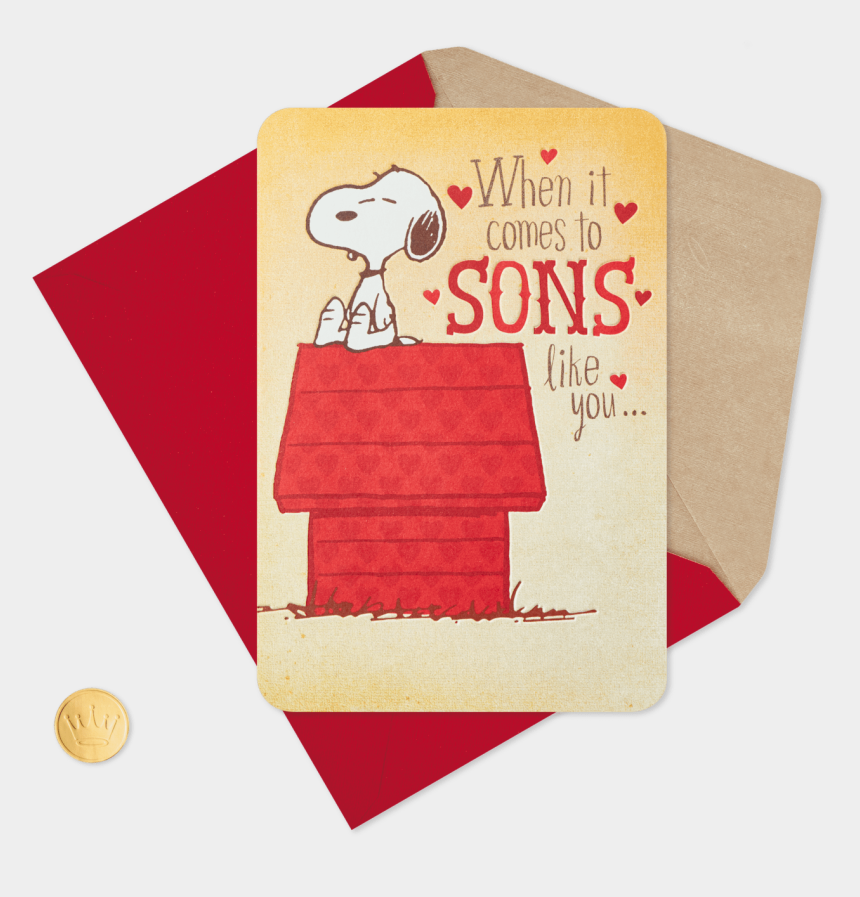 boss's day clipart, Cartoons - Peanuts Snoopy Sons Like You Valentine's Day Card Greeting - Happy Valentines Son