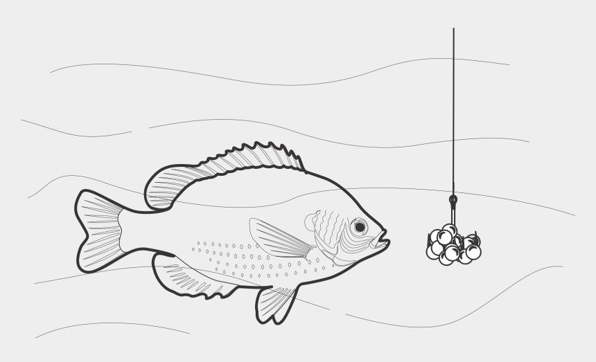 fishing lures clipart, Cartoons - Beaded Fish Bait By @jicjac, Beaded Fish Bait, On @openclipart - Bait Black And White