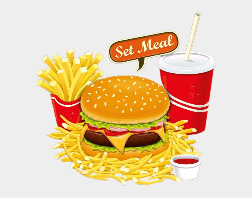 burger and fries clipart, Cartoons - Fries Clipart Burger - Food Restaurant Clipart