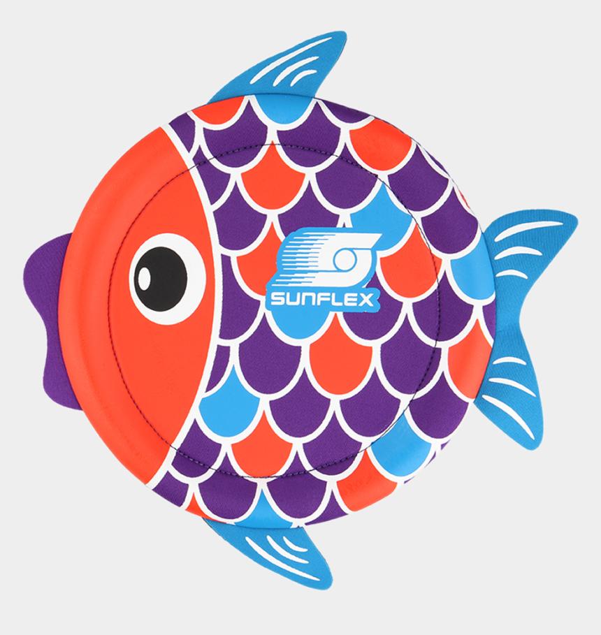 fishing lures clipart, Cartoons - Sunflex Multicolor Neoprene Flying Fish Clipart - Sunflex Flying Fish Disc