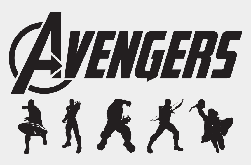avengers clipart, Cartoons - Avengers Logo Vector Png Transparent Avengers Logo - Avengers Clipart Black And White