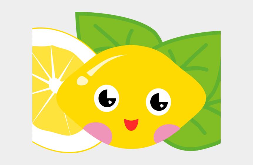 lemonade pitcher clipart, Cartoons - Lemon Clipart Kawaii - Fruit Cute Cartoon Png