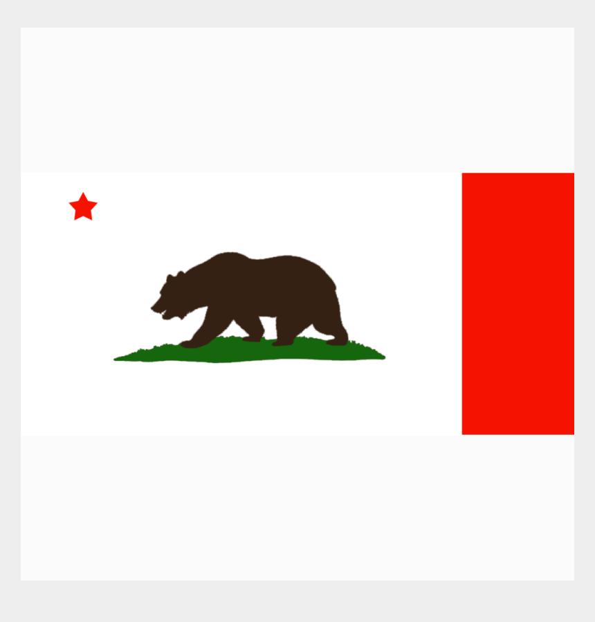 california state clipart, Cartoons - California State Flag Png - California Bear Flag