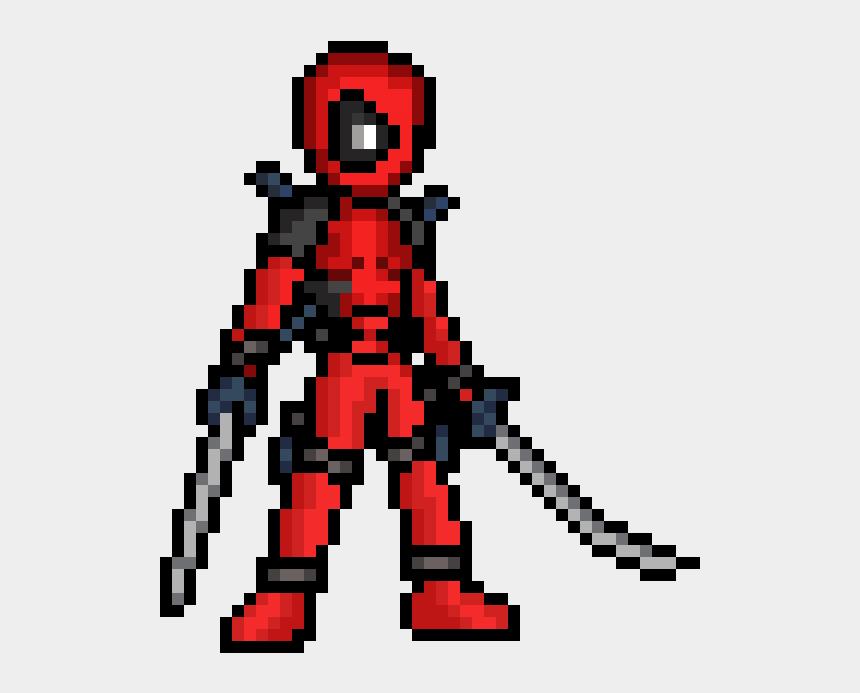 dead man clipart, Cartoons - Transparent Ladybug Dead - Pixel Art Deadpool