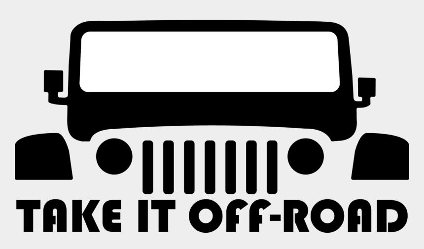 off road jeep clipart, Cartoons - Take It Off-road Decal - Jeep No Road No Problem Sticker