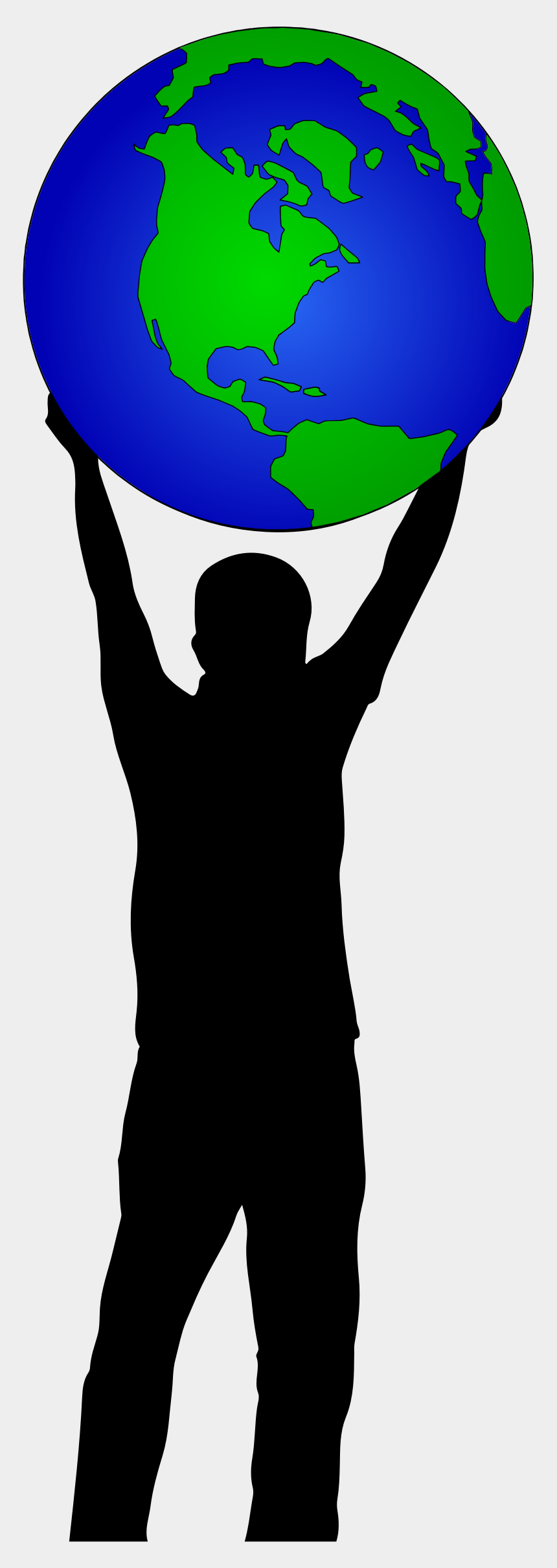 people around the world clipart, Cartoons - Clipart World Person - Holding Up The World Clipart