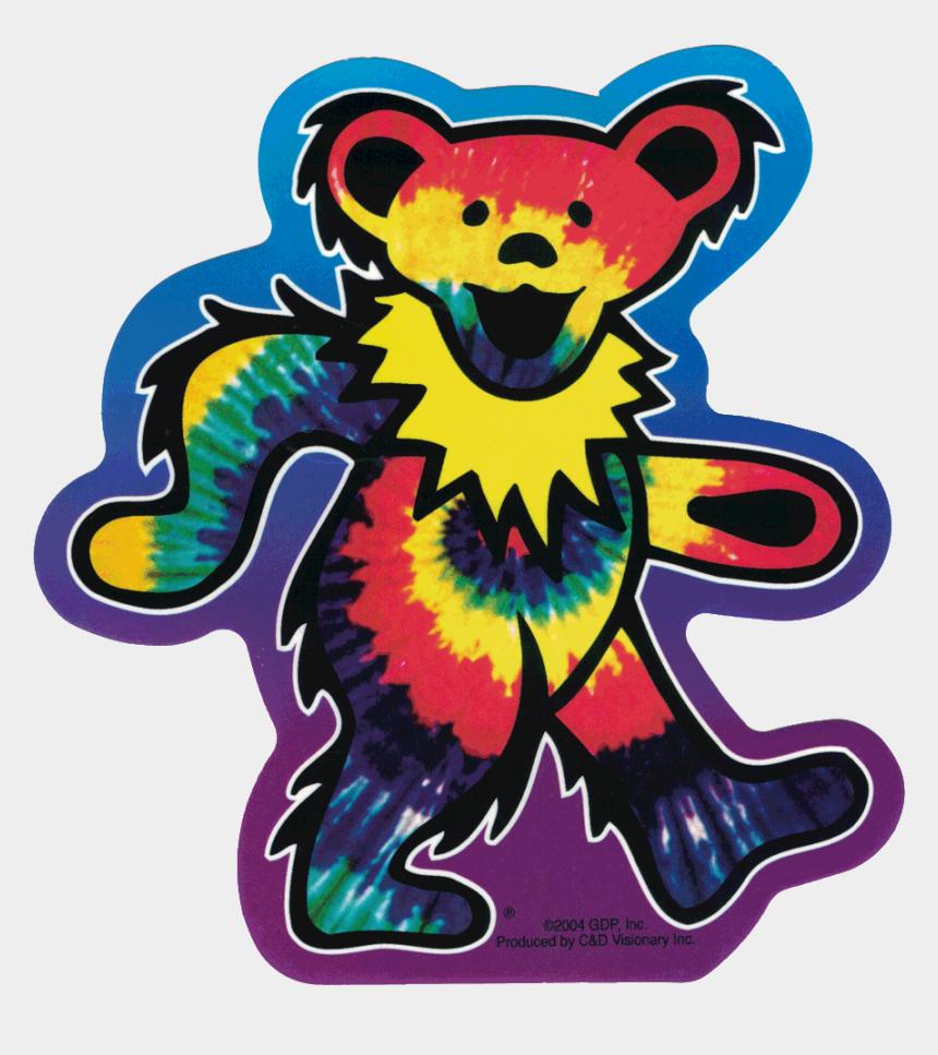 grateful clipart, Cartoons - Grateful Dead Tie Dye Dancing Bear - Grateful Dead Bear Sticker