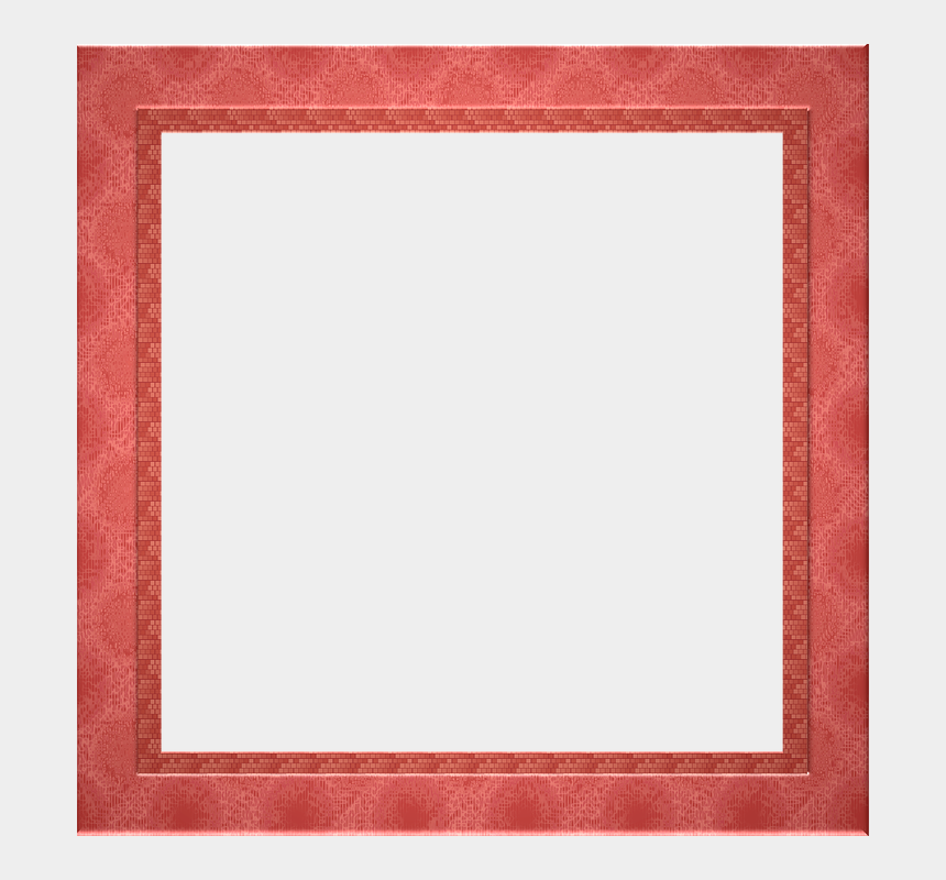 apple clipart transparent background, Cartoons - Red Border Frame Png Pic - Picture Frame