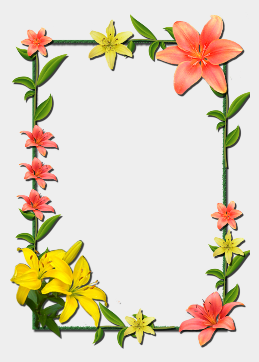power plants clipart, Cartoons - And Picture Flower Frame Frames Borders - Borders And Frames Flowers