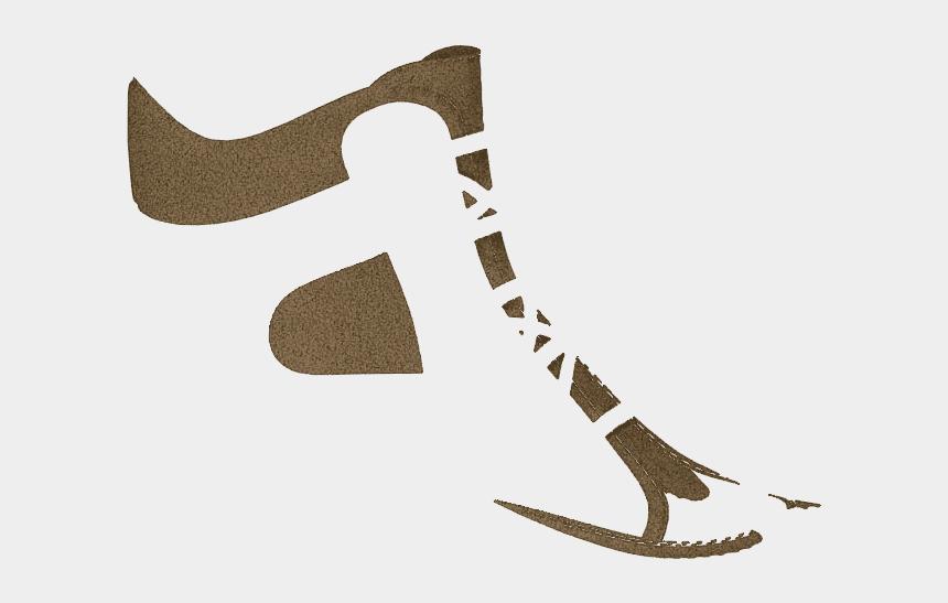 hockey skates clipart, Cartoons - P1668 Brown Split Suede - Figure Skate