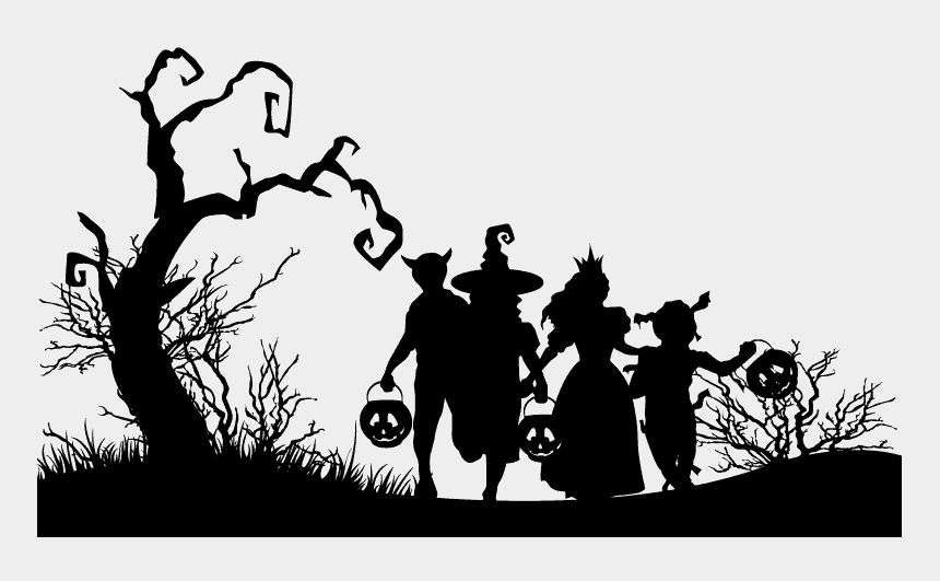 kids trick or treating clipart, Cartoons - Kids Trick Or Treat - Halloween Party