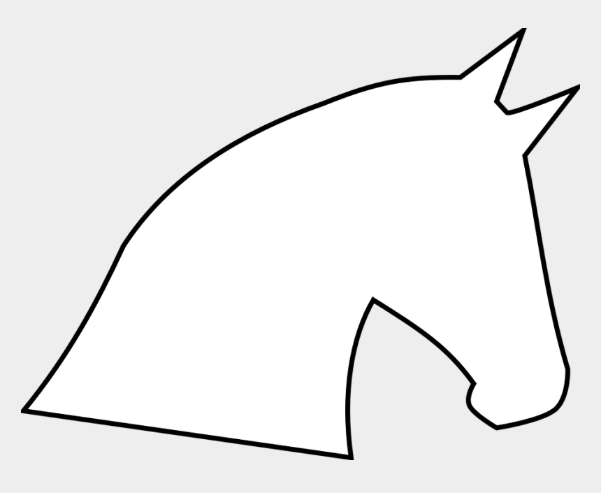 head outline clipart, Cartoons - Horse Head Horse Head Outline Profile Silhouette - White Horse Head Silhouette