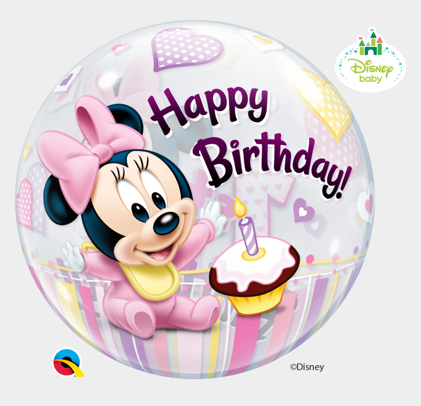minnie mouse 1st birthday clipart, Cartoons - Baby Minnie Mouse Png - Transparent Mickey Mouse Birthday