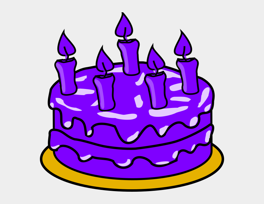 Birthday cake purple. Cliparts clip art cartoons