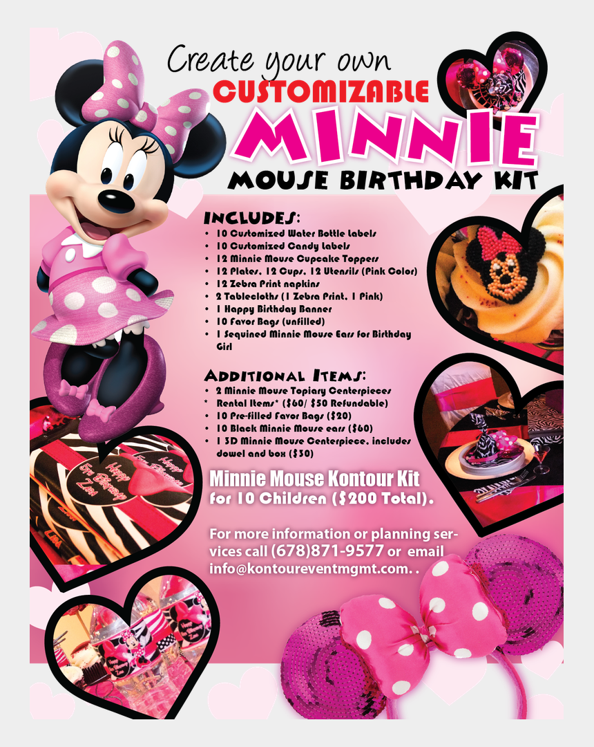 minnie mouse 1st birthday clipart, Cartoons - Previous - Minnie Mouse Theme Birthday Party