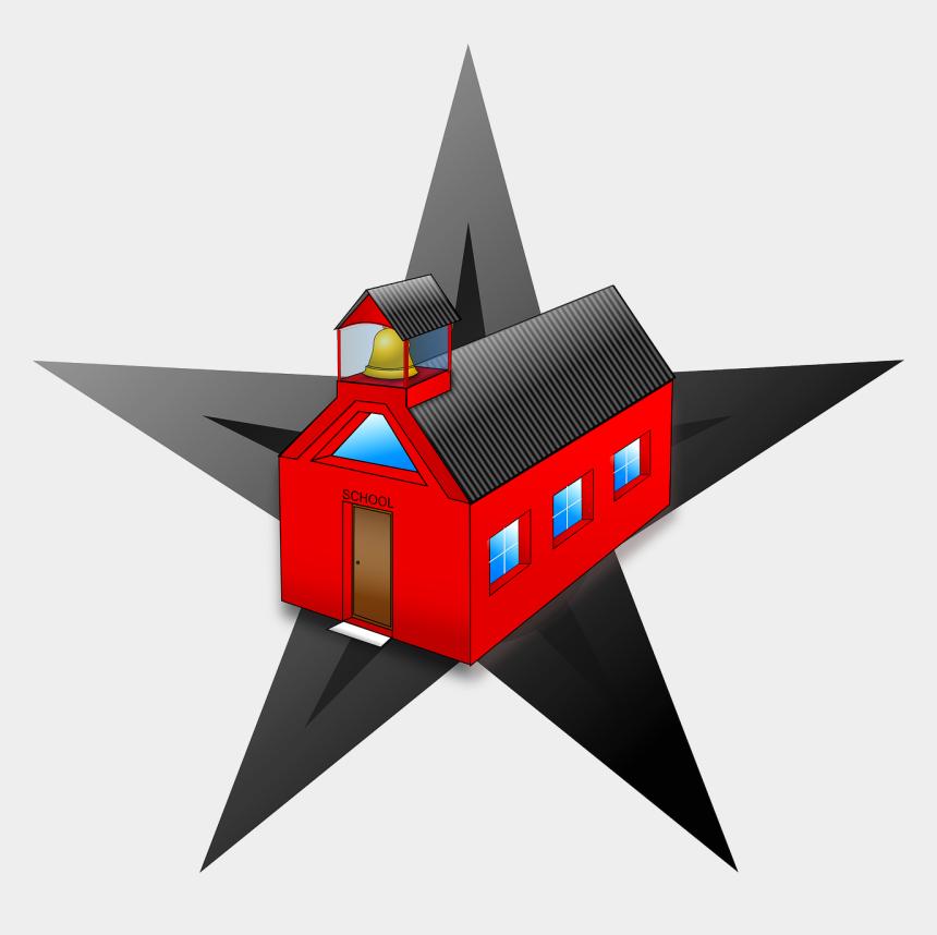 school's out clipart, Cartoons - Schools Barn Star Clip Art - School