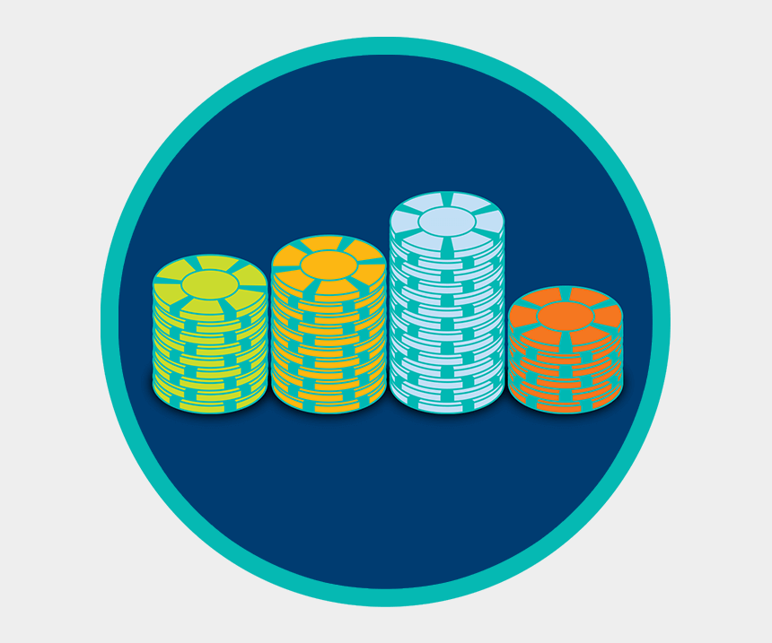 poker chips clipart, Cartoons - Four Stacks Of Chips In Varying Colours Are Neatly - He Mccracken Middle School
