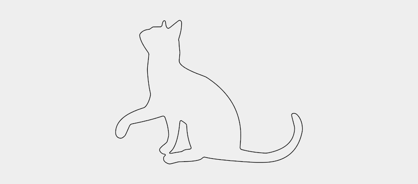 wood working clipart, Cartoons - Free Cat Looking Up Cat Kitten Silhouette Pattern Scroll - Tierheilpraxis