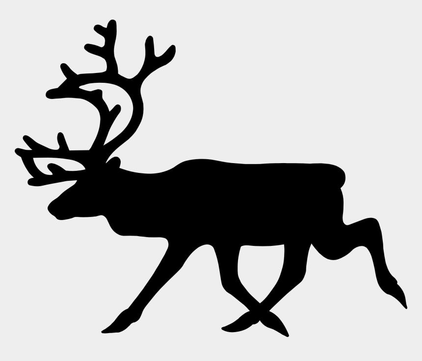 moose clip art, Cartoons - Stag, Moose, Elk, Deer, Anima - Reindeer Clipart Black