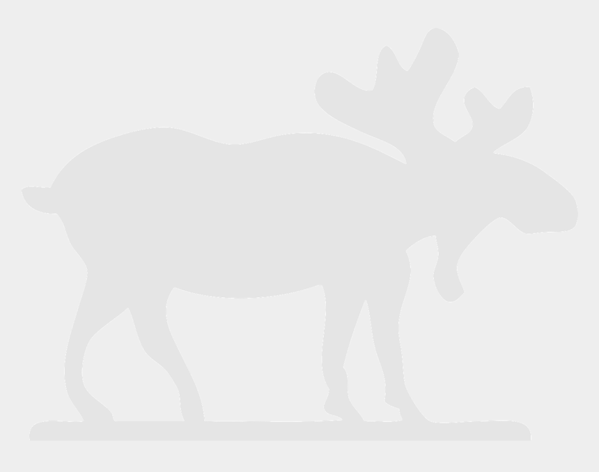 moose clip art, Cartoons - White Moose Black Background