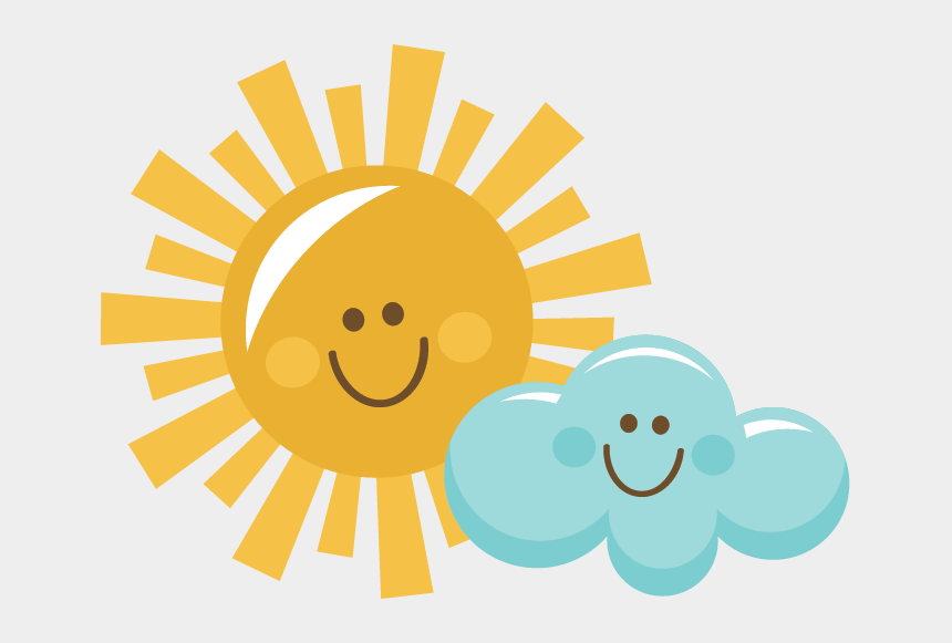 happy clip art, Cartoons - Happy Rain Cloud Png - Sun And Cloud Clipart