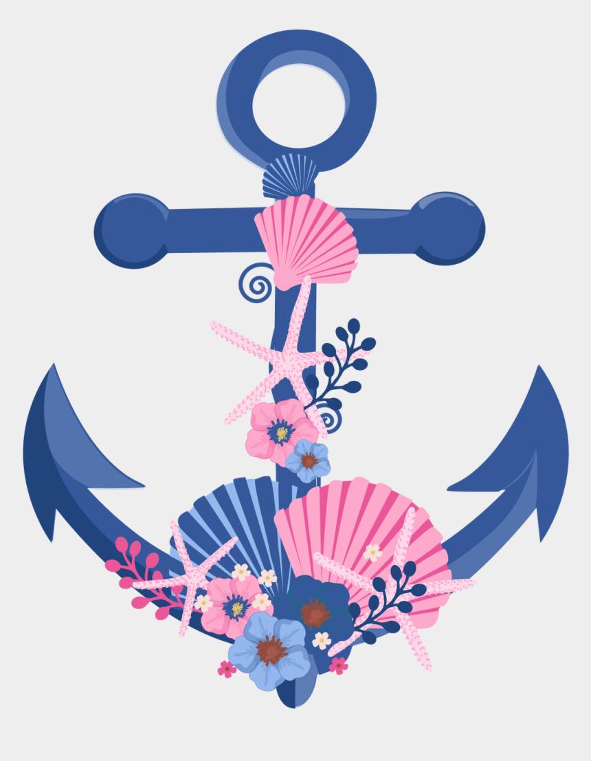 anchor clipart, Cartoons - Floral Clipart Anchor - Âncoras Em Convites De Casamento